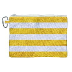 Stripes2white Marble & Yellow Marble Canvas Cosmetic Bag (xl)