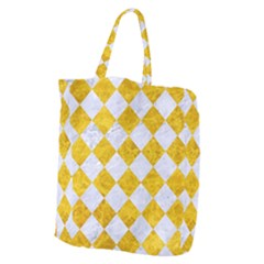 Square2 White Marble & Yellow Marble Giant Grocery Zipper Tote by trendistuff