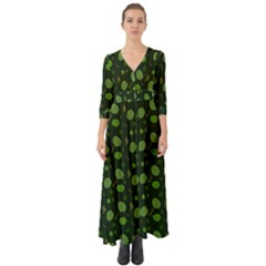 Hazel Botanical Button Up Boho Maxi Dress by ChihuahuaShower
