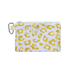 Skin5 White Marble & Yellow Marble Canvas Cosmetic Bag (small) by trendistuff