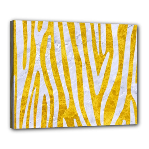 Skin4 White Marble & Yellow Marble (r) Canvas 20  X 16  by trendistuff