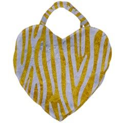Skin4 White Marble & Yellow Marble (r) Giant Heart Shaped Tote by trendistuff