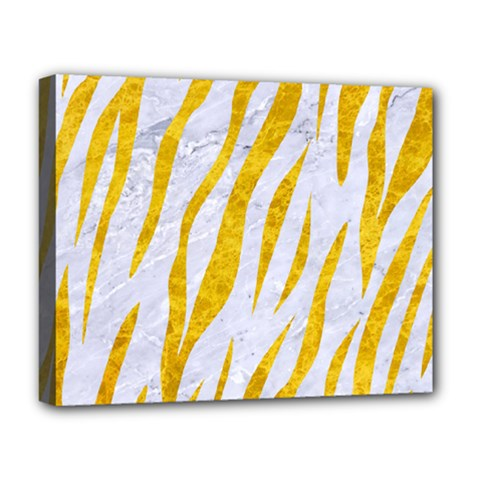 Skin3 White Marble & Yellow Marble (r) Deluxe Canvas 20  X 16   by trendistuff