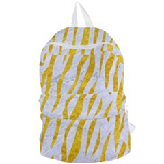 Skin3 White Marble & Yellow Marble (r) Foldable Lightweight Backpack