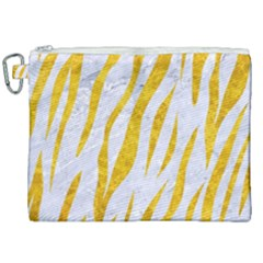 Skin3 White Marble & Yellow Marble (r) Canvas Cosmetic Bag (xxl) by trendistuff