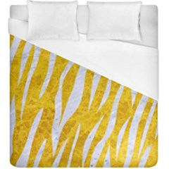 Skin3 White Marble & Yellow Marble Duvet Cover (king Size) by trendistuff