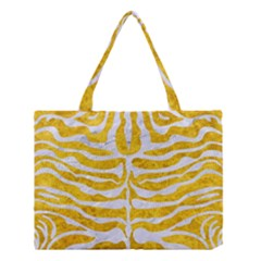 Skin2 White Marble & Yellow Marble Medium Tote Bag by trendistuff