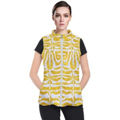 Skin2 White Marble & Yellow Marble Women s Puffer Vest