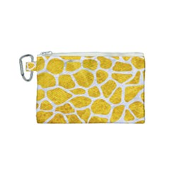 Skin1 White Marble & Yellow Marble (r) Canvas Cosmetic Bag (small) by trendistuff