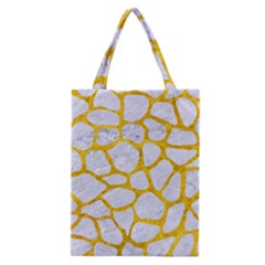 Skin1 White Marble & Yellow Marble Classic Tote Bag