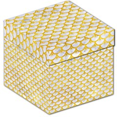 Scales3 White Marble & Yellow Marble (r) Storage Stool 12   by trendistuff