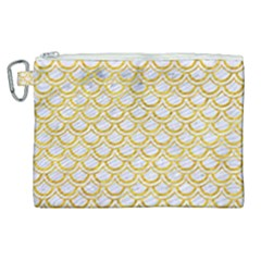 Scales2 White Marble & Yellow Marble (r) Canvas Cosmetic Bag (xl) by trendistuff