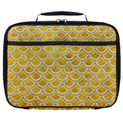 Scales2 White Marble & Yellow Marble Full Print Lunch Bag by trendistuff