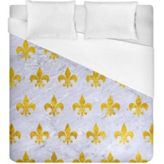 Royal1 White Marble & Yellow Marble Duvet Cover (king Size) by trendistuff