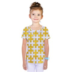 Puzzle1 White Marble & Yellow Marble Kids  One Piece Tee