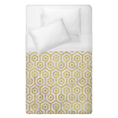 Hexagon1 White Marble & Yellow Marble (r) Duvet Cover (single Size) by trendistuff