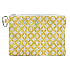 Circles3 White Marble & Yellow Marble (r) Canvas Cosmetic Bag (xl) by trendistuff