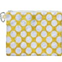 CIRCLES2 WHITE MARBLE & YELLOW MARBLE Canvas Cosmetic Bag (XXXL) View1