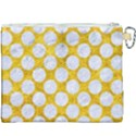 CIRCLES2 WHITE MARBLE & YELLOW MARBLE Canvas Cosmetic Bag (XXXL) View2