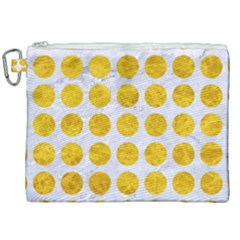 Circles1 White Marble & Yellow Marble (r) Canvas Cosmetic Bag (xxl) by trendistuff