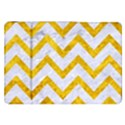 CHEVRON9 WHITE MARBLE & YELLOW MARBLE (R) Samsung Galaxy Tab 8.9  P7300 Flip Case View1