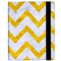 CHEVRON9 WHITE MARBLE & YELLOW MARBLE (R) Samsung Galaxy Tab 8.9  P7300 Flip Case View2