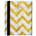 CHEVRON9 WHITE MARBLE & YELLOW MARBLE (R) Samsung Galaxy Tab 8.9  P7300 Flip Case View3