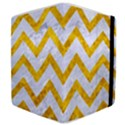 CHEVRON9 WHITE MARBLE & YELLOW MARBLE (R) Samsung Galaxy Tab 8.9  P7300 Flip Case View4