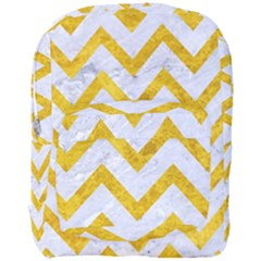 Chevron9 White Marble & Yellow Marble (r) Full Print Backpack