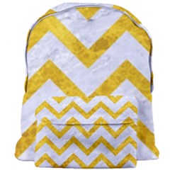 Chevron9 White Marble & Yellow Marble (r) Giant Full Print Backpack by trendistuff