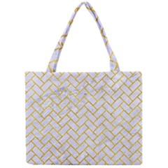 Brick2 White Marble & Yellow Marble (r) Mini Tote Bag by trendistuff