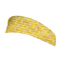 Brick1 White Marble & Yellow Marble Stretchable Headband