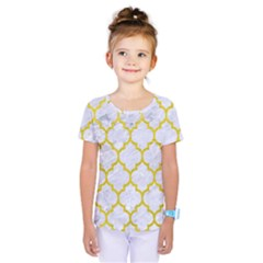 Tile1 White Marble & Yellow Leather (r) Kids  One Piece Tee by trendistuff