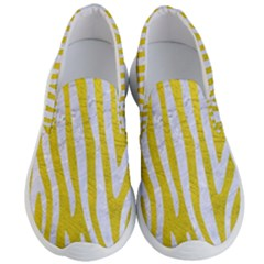 Skin4 White Marble & Yellow Leather (r) Men s Lightweight Slip Ons