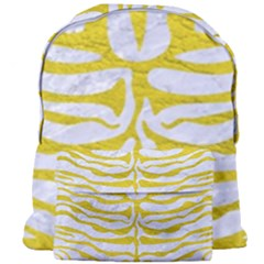 Skin2 White Marble & Yellow Leather (r) Giant Full Print Backpack