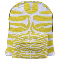 Skin2 White Marble & Yellow Leather Giant Full Print Backpack