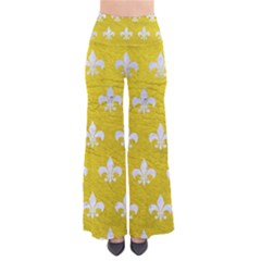 Royal1 White Marble & Yellow Leather (r) Pants by trendistuff
