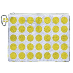 Circles1 White Marble & Yellow Leather (r) Canvas Cosmetic Bag (xxl)