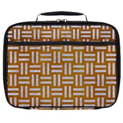 Woven1 White Marble & Yellow Grunge Full Print Lunch Bag