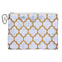 Tile1 White Marble & Yellow Grunge (r) Canvas Cosmetic Bag (xl) by trendistuff