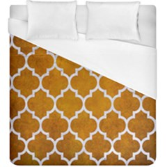 Tile1 White Marble & Yellow Grunge Duvet Cover (king Size) by trendistuff