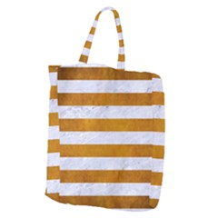 Stripes2white Marble & Yellow Grunge Giant Grocery Zipper Tote by trendistuff