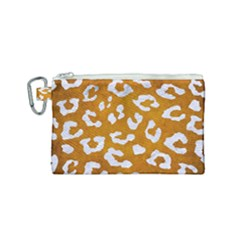 Skin5 White Marble & Yellow Grunge (r) Canvas Cosmetic Bag (small) by trendistuff