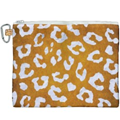Skin5 White Marble & Yellow Grunge (r) Canvas Cosmetic Bag (xxxl) by trendistuff