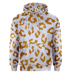Skin5 White Marble & Yellow Grunge Men s Pullover Hoodie
