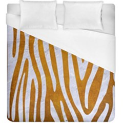 Skin4 White Marble & Yellow Grunge (r) Duvet Cover (king Size) by trendistuff