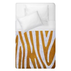 Skin4 White Marble & Yellow Grunge (r) Duvet Cover (single Size) by trendistuff