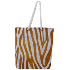 Skin4 White Marble & Yellow Grunge (r) Full Print Rope Handle Tote (large)
