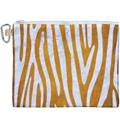 Skin4 White Marble & Yellow Grunge (r) Canvas Cosmetic Bag (xxxl) by trendistuff
