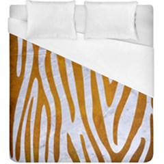 Skin4 White Marble & Yellow Grunge Duvet Cover (king Size) by trendistuff